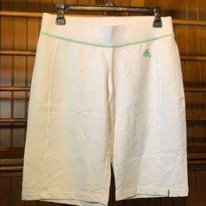 Adidas white, lounge shorts, Size S